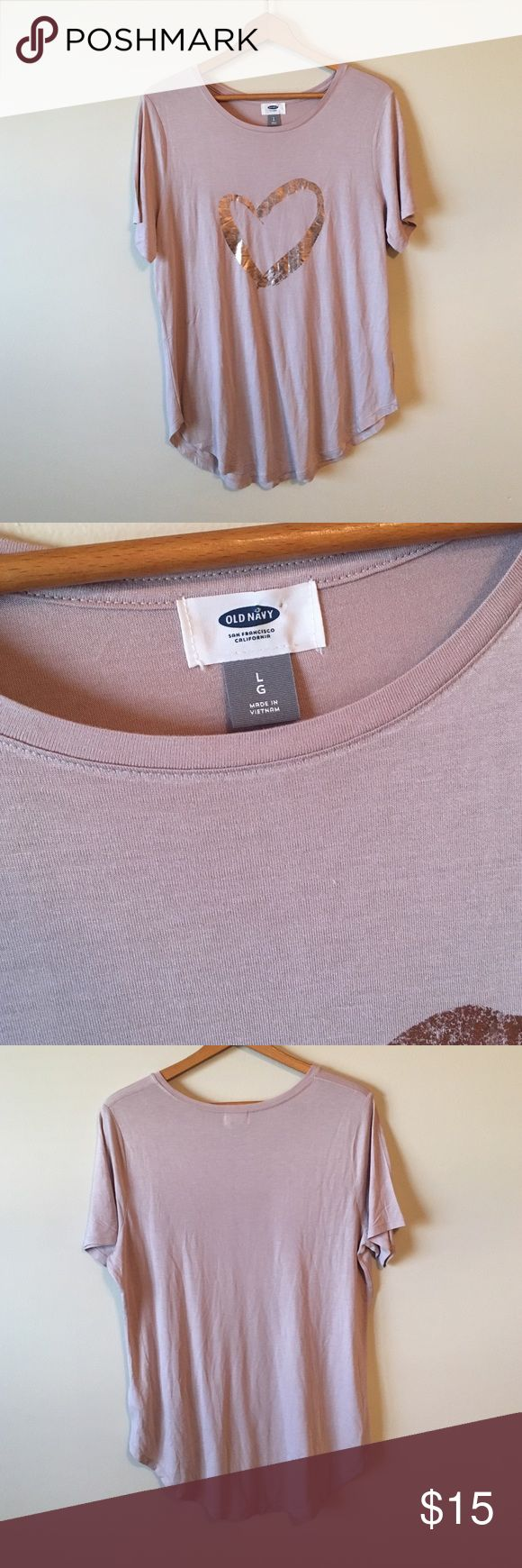 {Old Navy} Cotton Tee Lightweight cotton. Dusty pink color, size L. Tunic style. All bundles 30% off! Old Navy Tops Tees - Short Sleeve