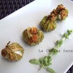 Fiori+di+zucchine+ripiene+alla+ricotta+al+forno