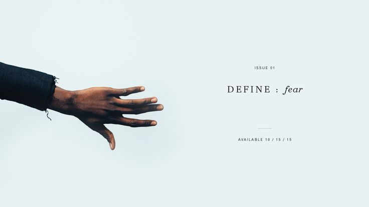 Define Magazine Issue 001 is out today! http://www.define-magazine.com #DefineMag #DefineFear