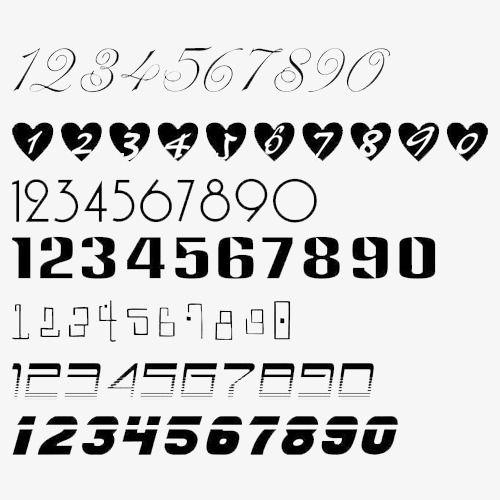 Black,Números arábigos,Utilizado para el trabajo,La vida,Figuras matemáticas,Ampliamente en el estudio,Clave digital