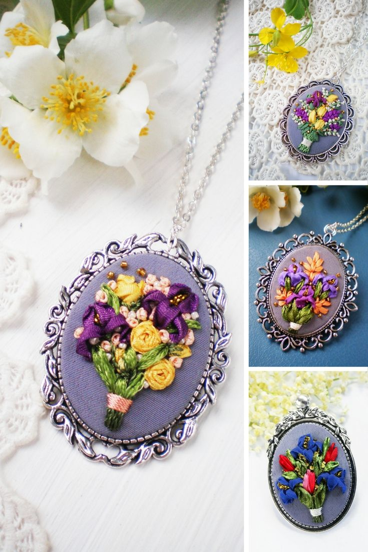 Hand Embroidered Jewelry by Bogdana Prots