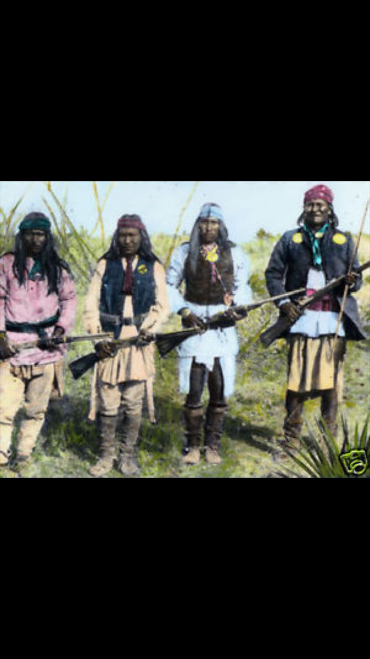 Picture of Native American Warriors.