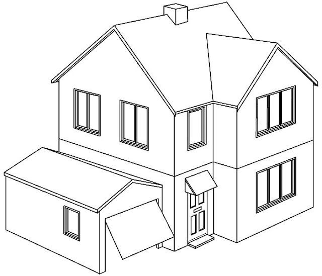 Casas Bonitas Para Colorear Children Coloring In 2020 House Colouring Pages House Colors House Drawing