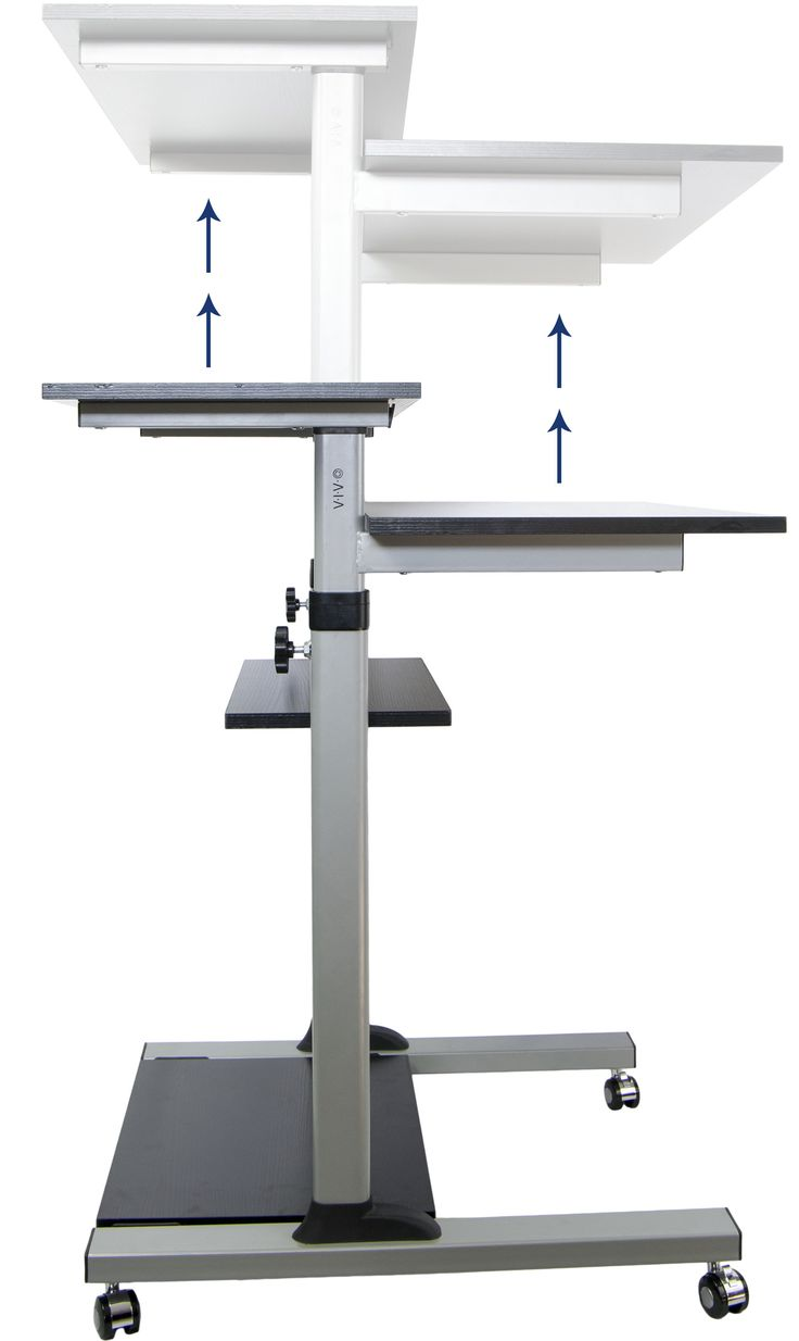 Desk kickstand furniture - Buy Vivo Mobile Height Adjustable Stand Up Desk Computer Work Station Presentation