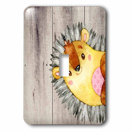 3drose Woodland-friends hedgehog animal forest illustration funny watercolor – Single Toggle Switch