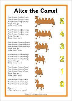 Alice the Camel song sheet (SB10661) - SparkleBox