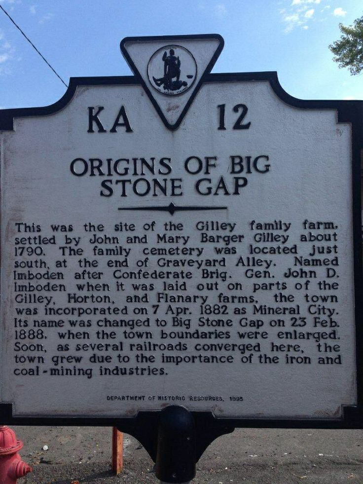 Historical Marker in Big Stone Gap Virginia