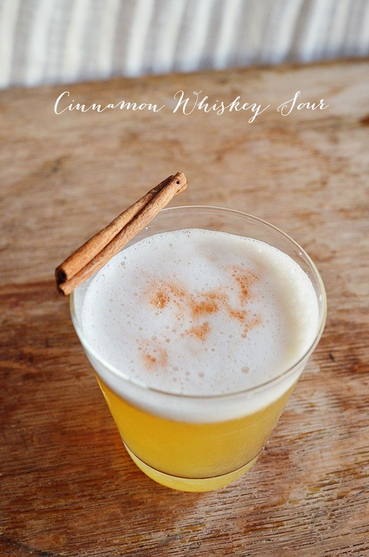Cinnamon Whiskey Sour! Ring in the new year with it or drink it throughout the year! From @Bonnie S. Rush {A Golden Afternoon}