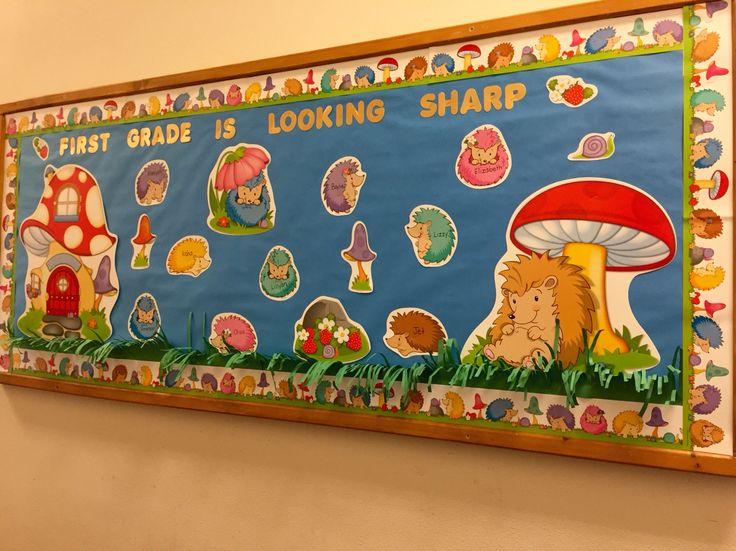 Hedgehog Classroom Decor ~ Carson dellosa quot happy hedgehogs back to school bulletin