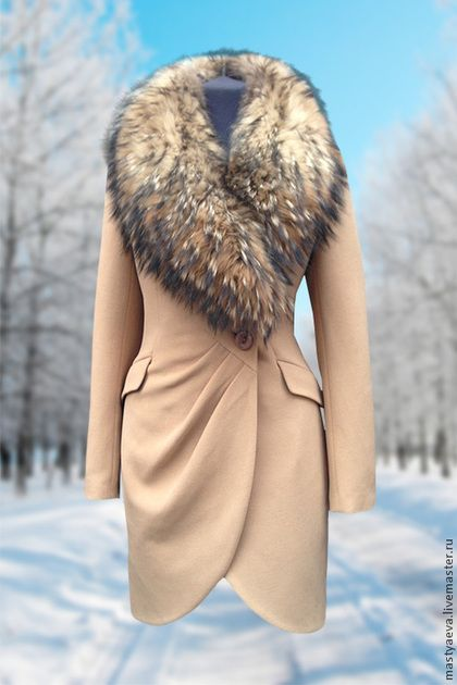 """Верхняя одежда ручной работы. Ярмарка Мастеров - ручная работа Пальто зимнее """"Монлин - Беж"""". Handmade."""