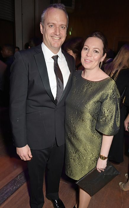 Pregnant Olivia Colman attends theatre gala with husband Ed Sinclair (Yes folks! She does have a real husband, and hasn't run off with Alec Hardy (Broadchurch's - David Tennant) just yet... ;)