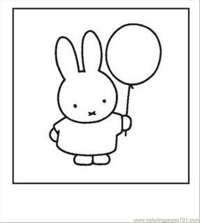 Miffy Balloon Printable