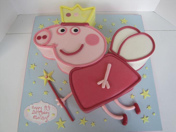 Peppa Pig Fairy Princess Birthday Cake - CakeCentral.com