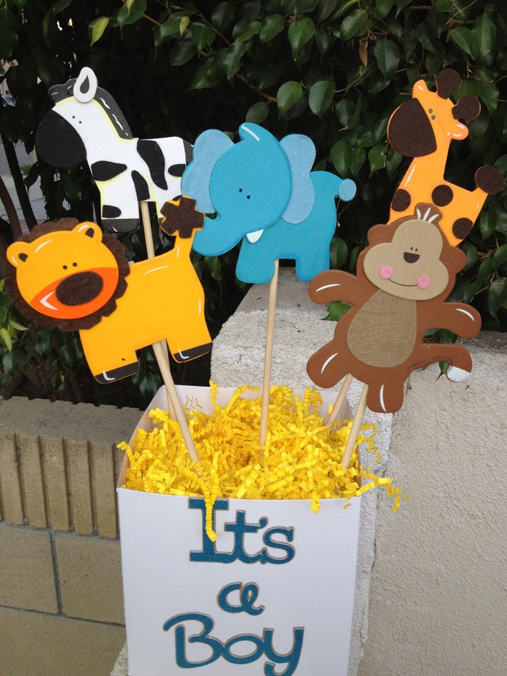 32 best baby shower jungle safari decorations images on for Baby decoration safari