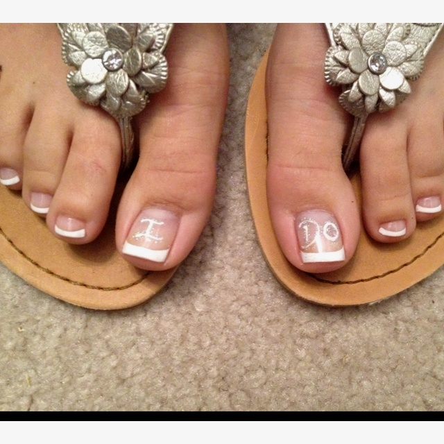 Wedding Pedicure!! Im going to do this! too cute haha