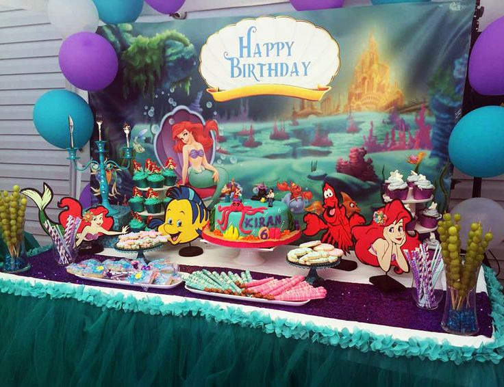 Best 25 little mermaid centerpieces ideas on pinterest for Ariel birthday party decoration ideas