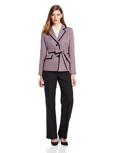 Le Suit Women's 3 Button Framed Self Belted Plaid Jacket and Pant Suit Set, Peony/Multi, 12 Le Suit http://www.amazon.com/dp/B00FFV4I5M/ref=cm_sw_r_pi_dp_jqy8vb1V15WK9