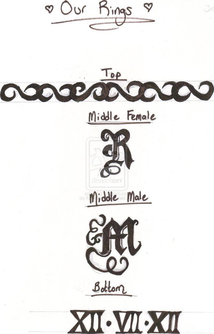 wedding band tattoos | Tattoo Wedding Ring design by ~KawaiiLina on deviantART