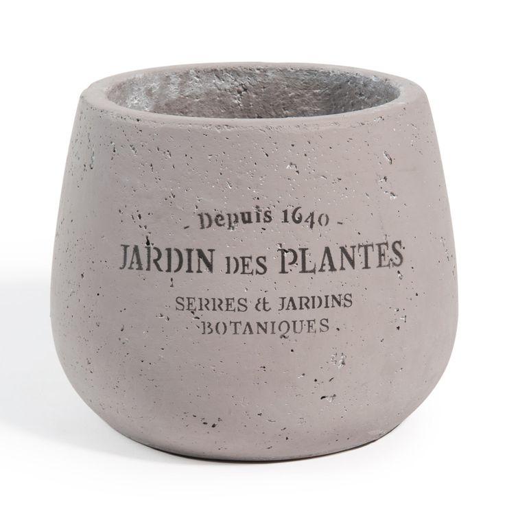 Cache-pot gris Bastide grand modèle