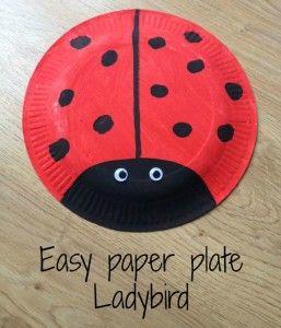 Paper plate Ladybird