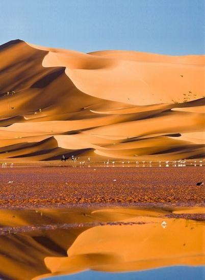 Déserts du monde - Lac Yasmina, erg Chebbi, Merzouga - Maroc