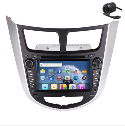 Latest EinCar Android HD Autoradio Capacitive Touchscreen Special for HYUNDAI VERNA Car GPS Navigation DVD CD Player 6.2 inch 2 din Car Stereo Audio Player Built-in Bluetooth FM/AM Radio iPod+Steering Wheel Control+Free Backup Camera