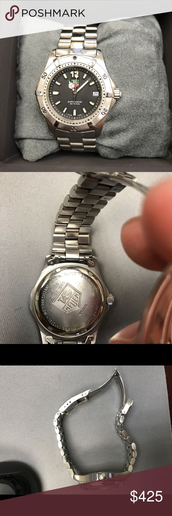 Tag Heuer 35mm unisex watch I am selling a used Tag Heuer Professional WK1210 Quartz Black Stainless Steel 35mm Unisex Watch. 100% authentic. No box or extra links. Tag Heuer Accessories Watches