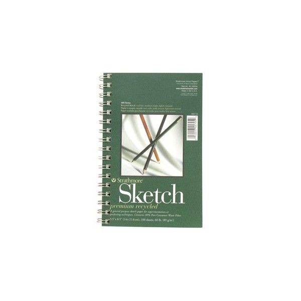 """5 1/2"""" x 8 1/2"""" 400-Series Recycled Sketch Pad ($7.99) ❤ liked on Polyvore featuring home, home decor, stationery, fillers, books, accessories, extra and items"""