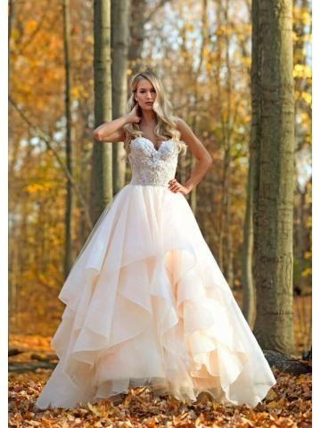 organza menyasszonyi ruha ujjatlan kötőfék nyak hercegnő szívét