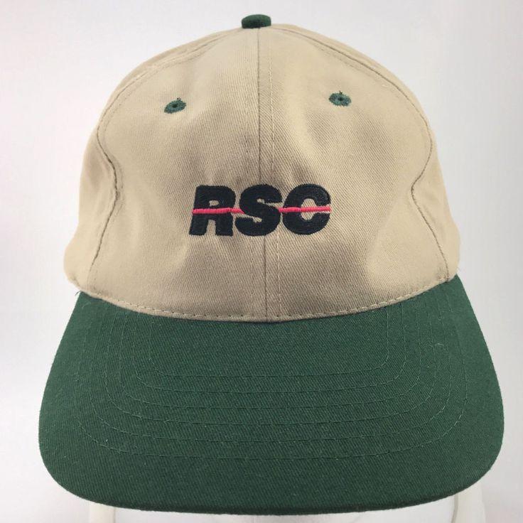 RSC Equipment Rental Beige Green Baseball Cap Dad Hat Adjustable Head Shots  #HeadShots #BaseballCap