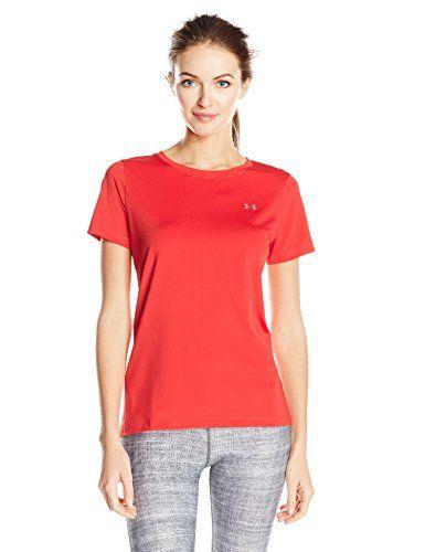 €10.22 in Gr. L * Under Armour Damen UA HG SS Kurzarmshirt, Pomegranate * Sportbekleidung Damen günstig