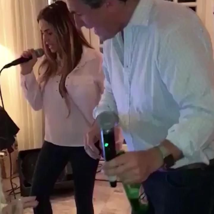 Katie Price shares a video of herself singing karaoke to We Dont Have to Take Our Clothes Off