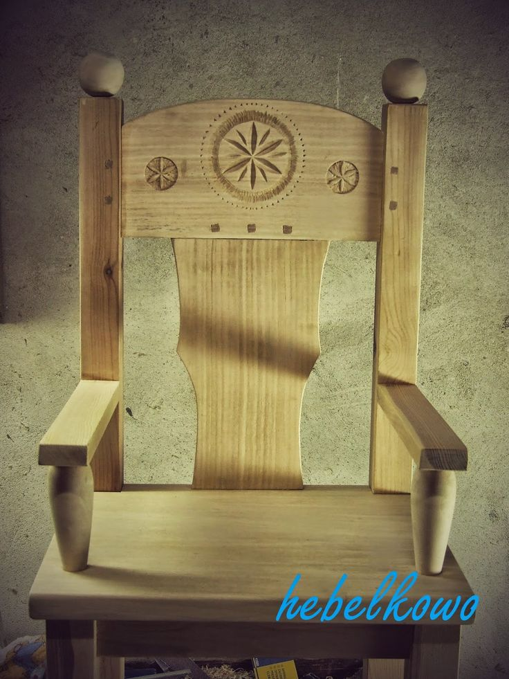 Wooden throne