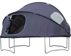 Trampoline tent - our girls use to sleep on our trampoline all the time ~ this would have been cool!