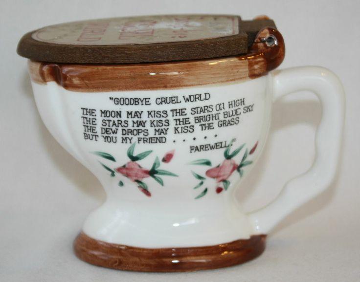 Goodbye Cruel World: Vintage Toilet Mug Goodbye Cruel World Man In Toilet