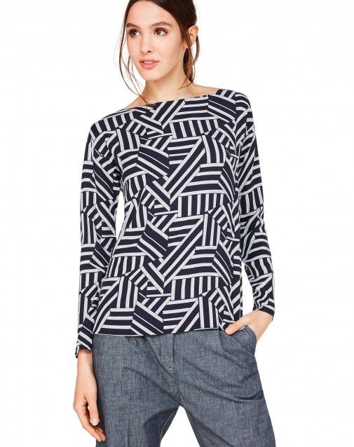 Shop Multicolor printed blouse Dark Blue for Shirts And Blouses at the official United Colors of Benetton online shop.