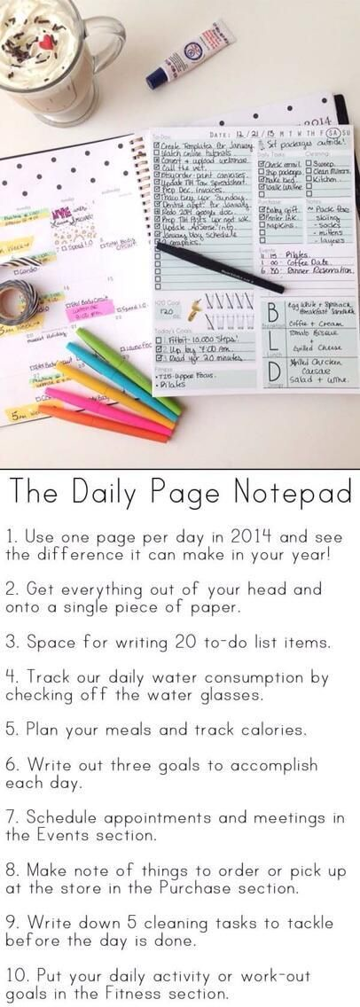 The Daily Page Notepad - love this, but not sure if I could give up my Filofax! #stationery #stationery addict