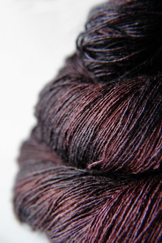 Chocolate cosmos ceasing to be - Tussah Silk Yarn Lace weight ~ Dye For Yarn