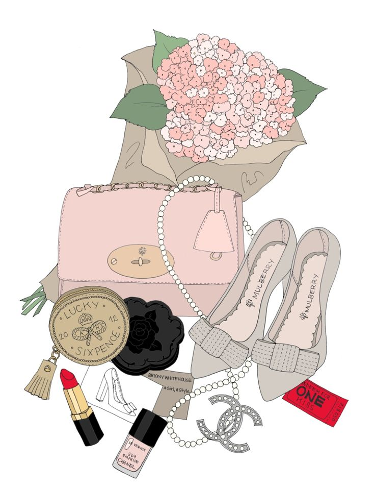 Inside my bag, illustrated by Kristina Hultkrantz