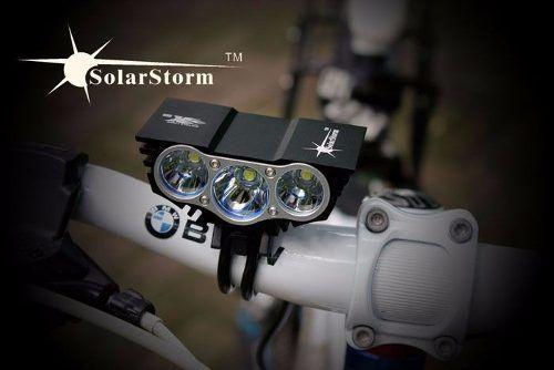 linterna bicicleta 3led/7000 lúmen lamas potente del mercado