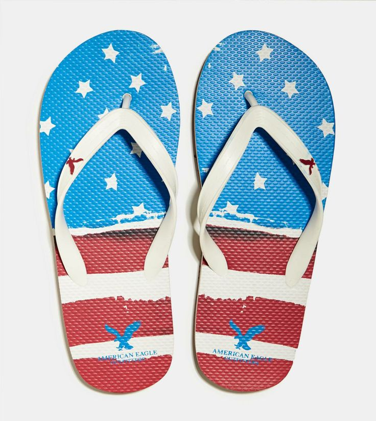 Unisex Non-slip Flip Flops Eagle Head In Usa Banner Cool Beach Slippers Sandal