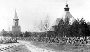 Uudenkirkon viimeinen kirkko oli valmistunut v. 1800 ja kellotapuli v. 1857. Kirkko jouduttiin suomalaisten sotilaiden toimesta polttamaan 12/1939