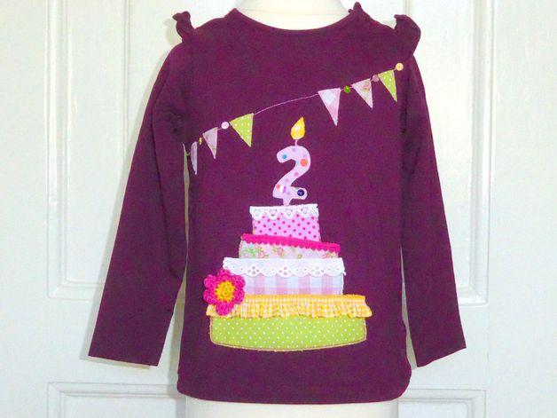 Langarmshirts - Geburtstags-Shirt *2* Torte Gr.86 - ein Designerstück von Little-Miss-Clara bei DaWanda