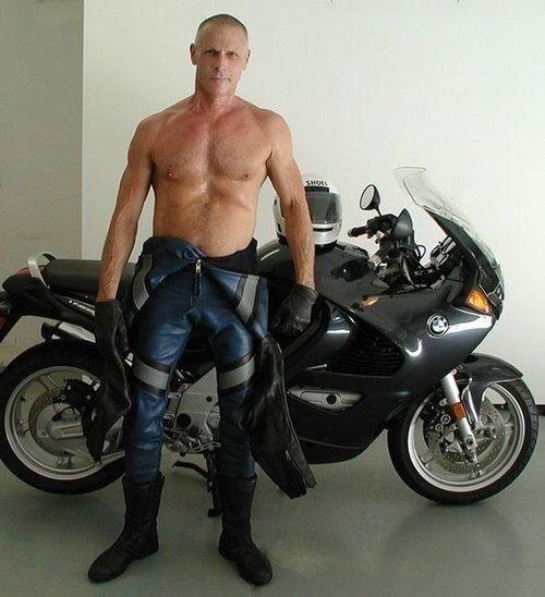 gay biker man