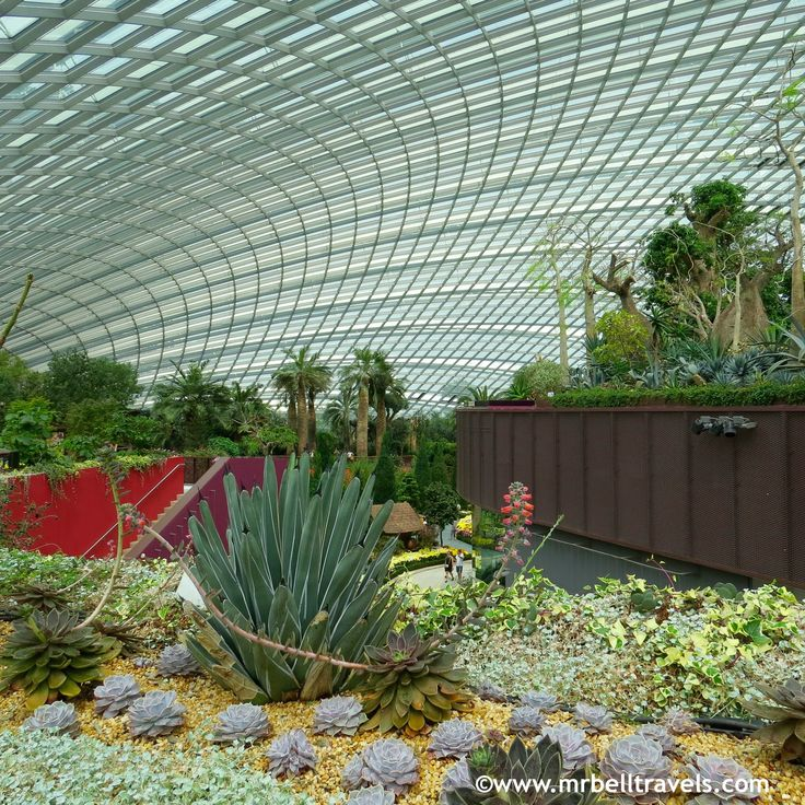 The Flower Dome at Gardens by the Bay Singapore