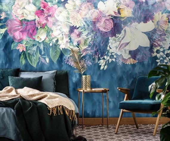 3d Colored Floral Wallpaper 3d Floral Poster Retro Abstract Rose Flower Bedroom Wall Mural Wallpaper Wall Murals Flower Bedroom Flower bedroom wallpaper images