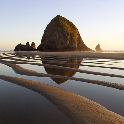 Haystack Rock near Astoria, Oregon  (where Goonies was filmed) have never been, but would LOVE to