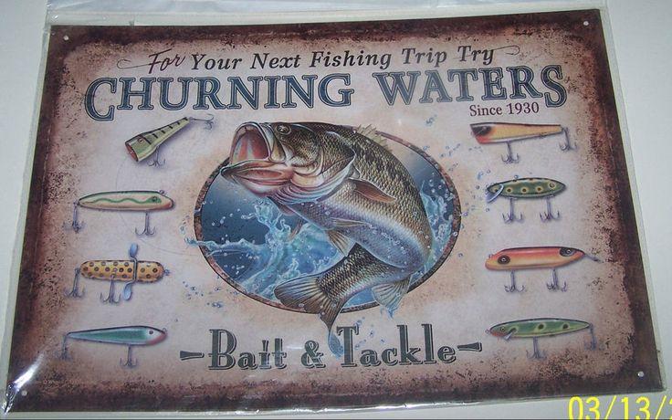 Nate Owens Fisherman Decorative Tin Sign