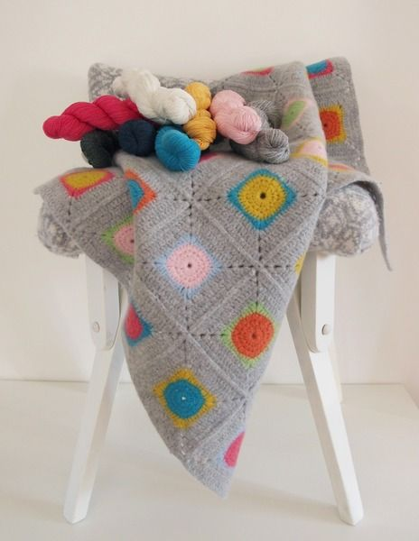 Luxury Granny Square Crochet Blanket Kit / DIY von Warm Pixie auf DaWanda.com