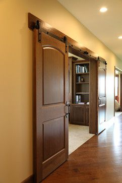 Perfect Barn Door Hardware | Sliding Barn Doors With Rustic Style And Dark Stained  Doors | Bayer